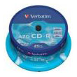 verbatim cd r 80min 700 mb crystal azo 52x cakebox 25pcs photo