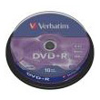 verbatim dvd r 16x 47gb matt silver cakebox 10pcs photo