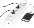 logilink pa0130 logismart outlet strip with 4x usb metering and switch extra photo 1