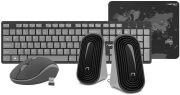 natec nkl 1179 tetra wireless set 4in1 black grey
