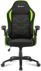 sharkoon elbrus 1 gaming chair black green