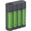 fortistis mpatarion power bank 2in1 x411 4 rechargeable batteries r6 aa 2600ma gp photo
