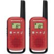 motorola talkabout t42 walkie talkie 4km red photo