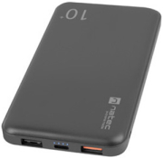 extreme media npb 1522 trevi 2x usb a 1x qc30 powerbank 10000mah black